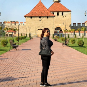 A woman perfile in a Castle in Transnistria, by Omnimundi