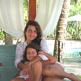 Mother and Daughter tourists in a luxury hotel in Bali by Omnimundi