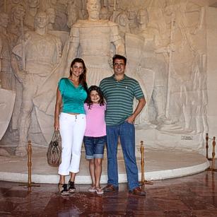 Omnimundi family in a museum in Tirana - Albania