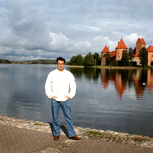 The Trakai Castle and lake in Lithuania caught by Omnimundi