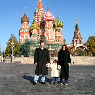 Omnimundi Family in Red Square in Moscow, Russia
