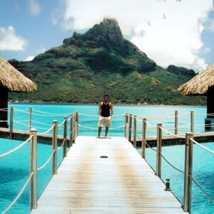 A luxury hotel classic picture in Bora Bora, French Polynesia