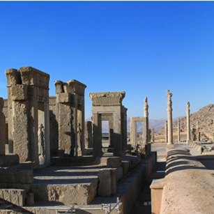 A view of the Historical site of Persepolis in Iran